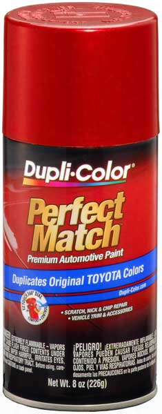 Toyota Red Pearl Auto Spray Paint - 3p1 2001-2008