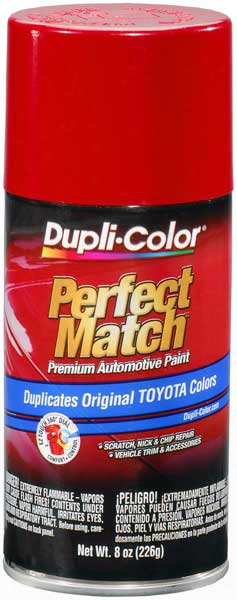 Toyota Super Red Ii Auto Spray Paint - 3e5 1985-1999