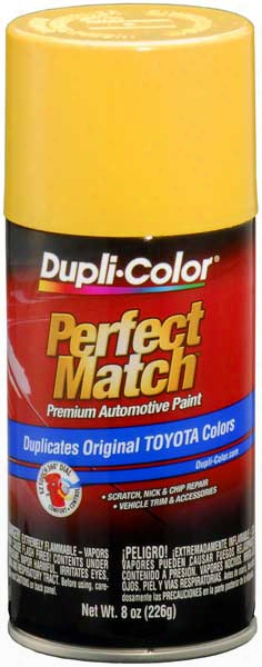 Toyota Yellow Auto Spray Paint - 541 1977-1995