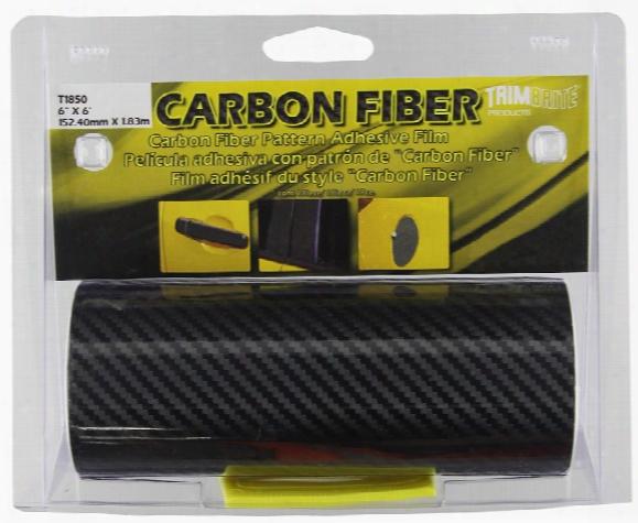 """Trimbrite Black Carbon Fiber Adhesive Film 6"""" X 6ft"""