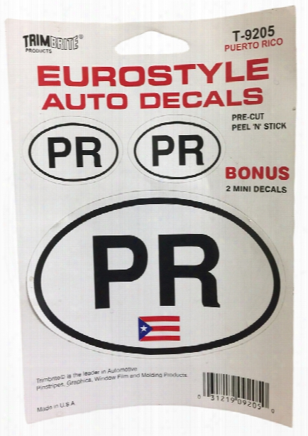 Trimbrite Self-stick Euro-style Puerto Rico Stickers