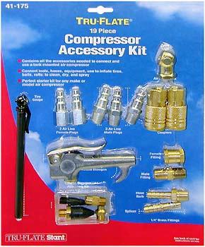 Tru-flate 19-piece Air Compressor Accessory Kit