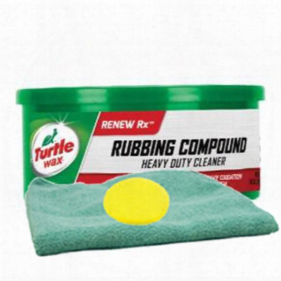 Turtle Wax Rubbing Compound 10.5 Oz. Microfiber Cloth & Foam Pad Kit