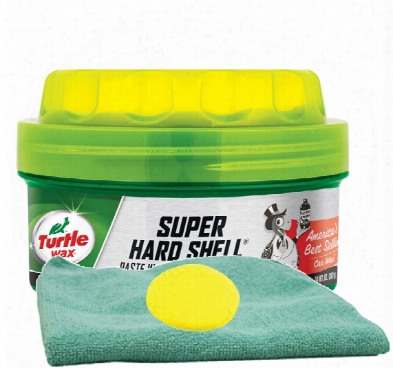 Turtle Wax Super Hard Shell Paste Wax 14 Oz. Microfiber Cloth & Foam Pad Kit