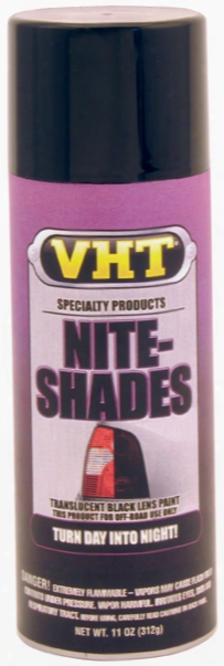 Vht Nite-shades Translucent Black Tail Light Lens Coating 10 Oz.