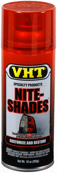 Vht Nite-shades Translucent Red Tail Light Lens Coating 10 Oz.