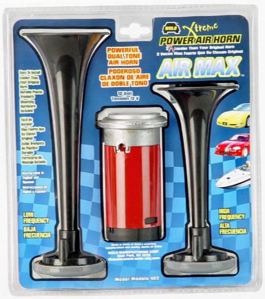 Wolo Air Max Black Dual Tone Air Horn