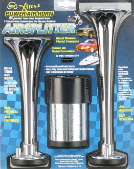 Wolo Airsplitter Dual Tone Metal Chrome Air Horn