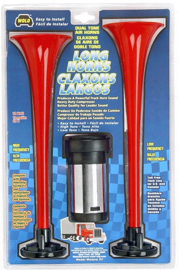 "Wolo ""big Rig Truck"" Long Dual Air Horn Kit"