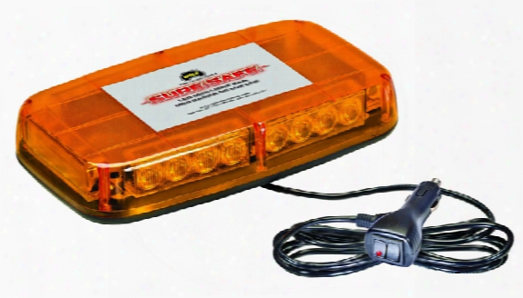 Wolo Sure Safe 12v Low Profile Led Amber Warning Light Bar