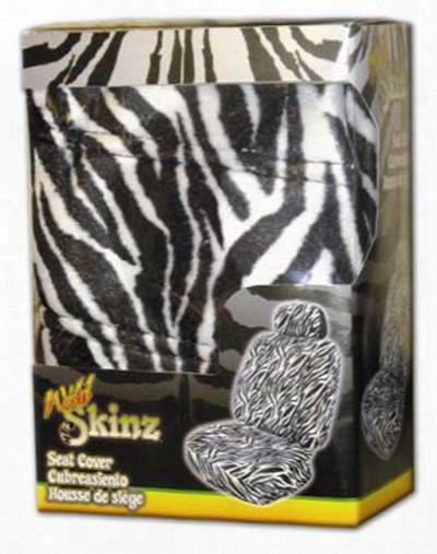Zebra Print Universal Bucket Seat Cover
