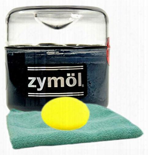 Zymol Ebony Black Wax 8 Oz Microfiber Cloth & Foam Pad Kit