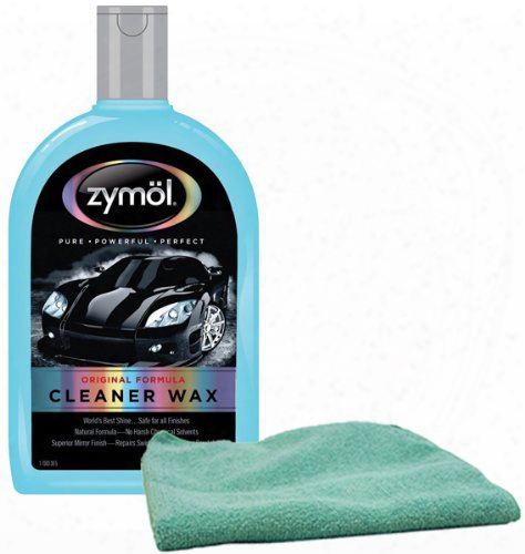 Zymol Natural Liquid Cleaner Wax 16 Oz & Microfiber Cloth Combo Kit