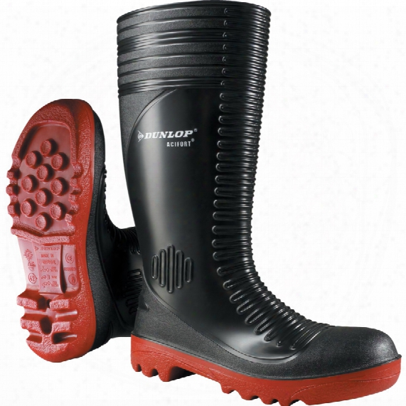 Dunlop Acifort Ribbed B Lack/red Boot Size 7 (41)