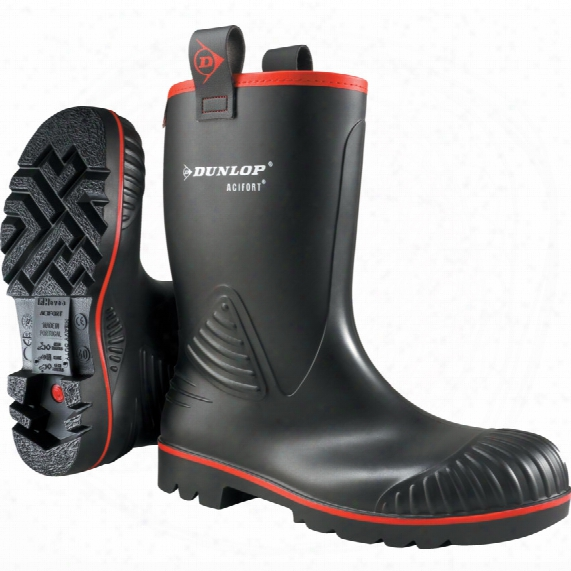 Dunlop Acifort Rocker Black Boot Size 8 (42)
