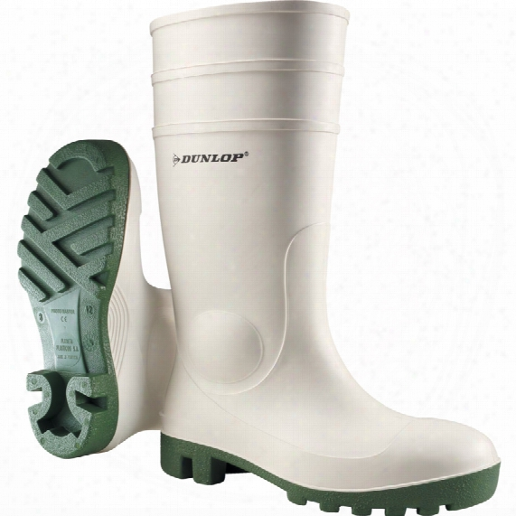 Dunlop Promaster White/green Boot Size 10.5 (45)