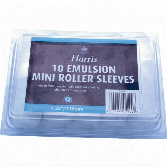 "Harris 4"" Emulsion Mini Roller (pk-10)"