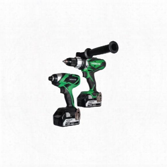 Hitachi Power Tools Kc18dkl/jb 18v 2-pce Drill Kit C/w 2x5.0ah Li-ion