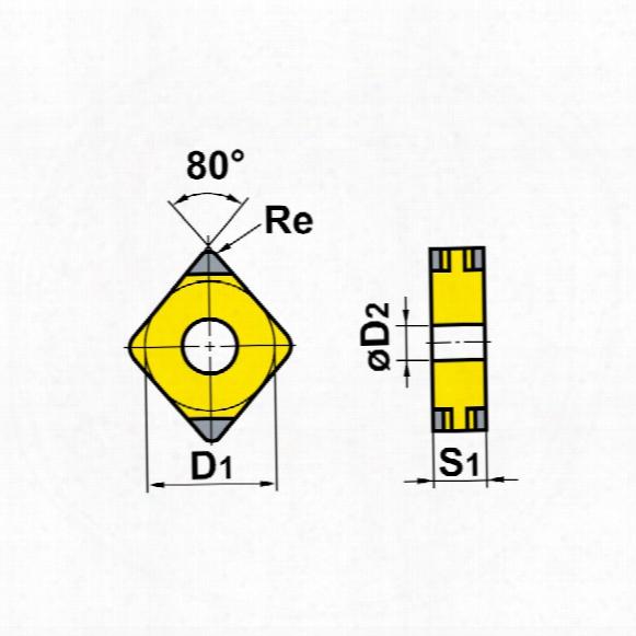 Sandvik Coromant Ccmt 09t304-pm Insert Grade 4235
