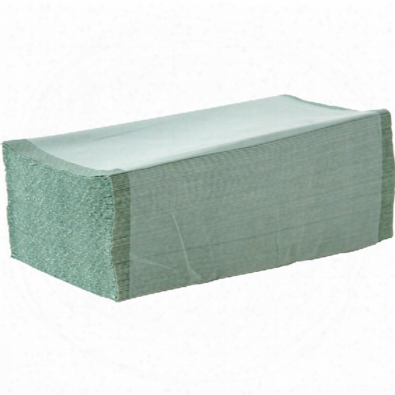 Solent Cleaning Scz024-1g Green 1-ply Interfold Towels (3600)