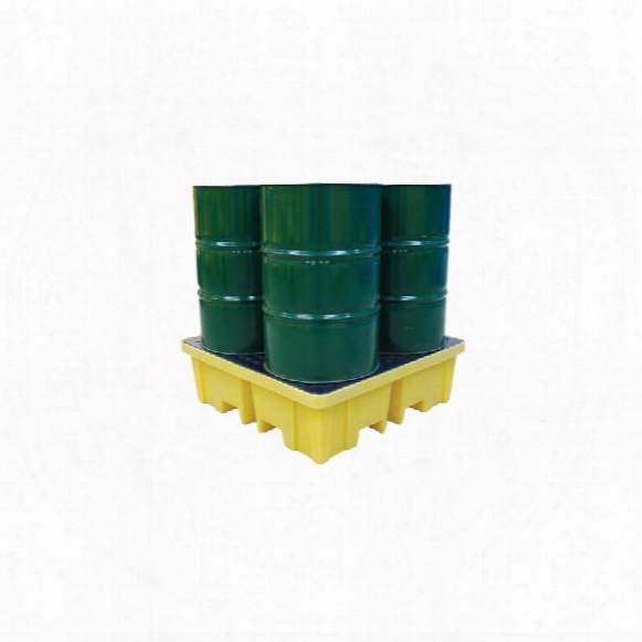 Solent Spill Control Spill Pallet 4-drum;4-way Entry