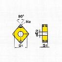 Sandvik Coromant Ccmt 060204-Km Insert Grade H13A