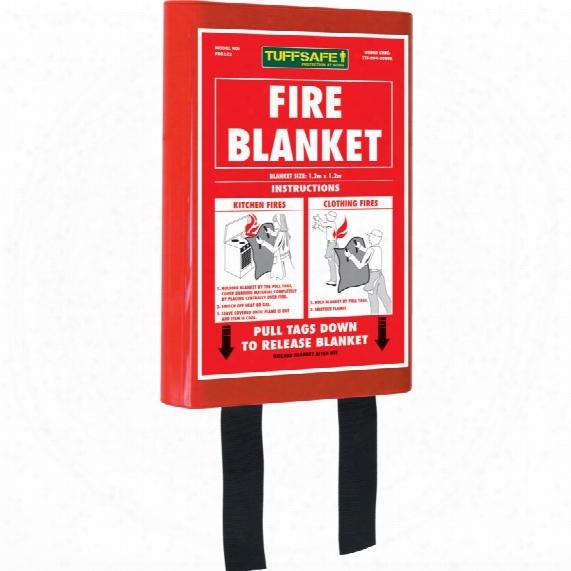 Tuffsafe Fire Blanket Kitemarked B S En1 869:1997 1.2mx1.2m