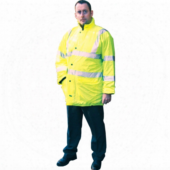 Tuffsafe Hi-vis Breathable Coat Cl3 Yellow Large