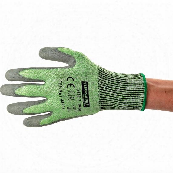 Tuffsafe Pu Cut 5 Glove Green Sz.9