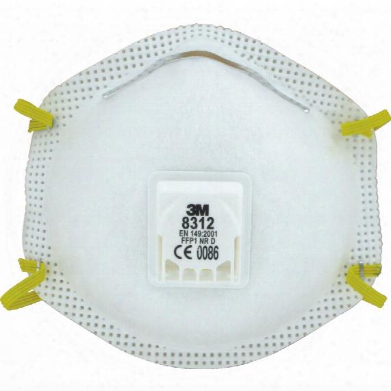 3m 8312 Cup Shaped Valved Du St/mist Respirator (10)