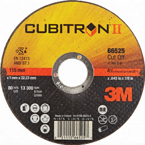 65455 125x1.6x22.23mm Cub Itronii Cutting Disc 41