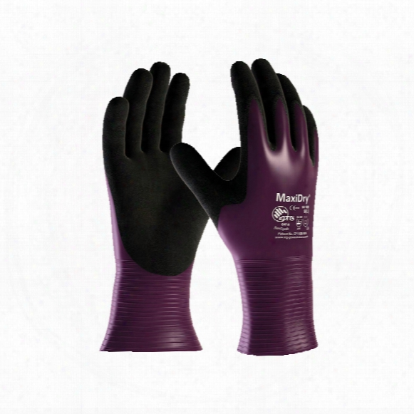 Atg 56-426 Maxidry Gp Palm-side Coated Purple/black Drivers Gloves - Size 7