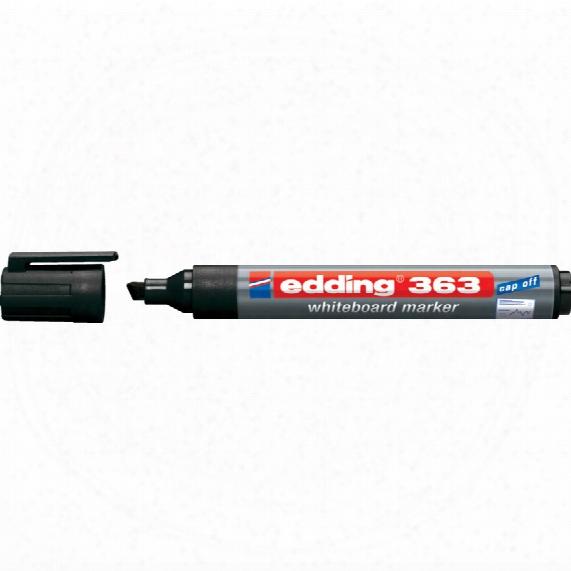Edding E-363 Drywipe Marker Chisel Tip Black (pk-10)