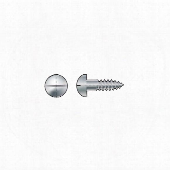 Matlock 5.5x70mm Slotted Round Head Woodscrew Brass Cu2/cu3 (bx-100)