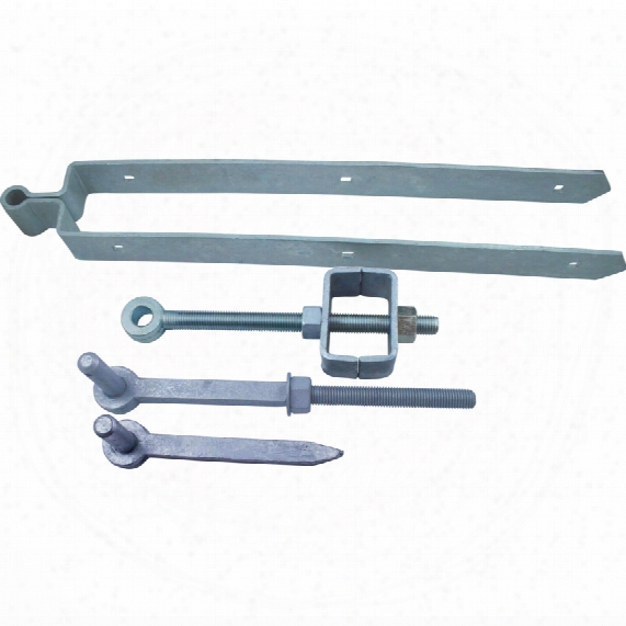 Matlock 600mm Adj. Field Gate Hinge Set C/w Fittings Galv.