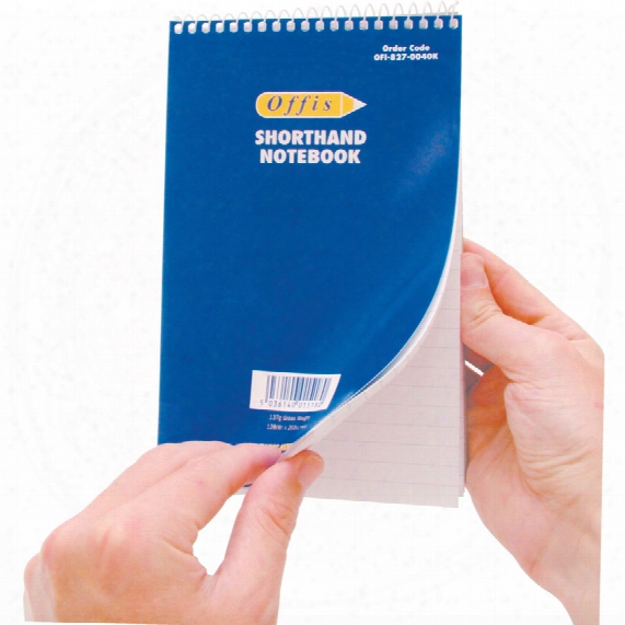 Offis A5 Feint Ruled Shorthand Note Pad