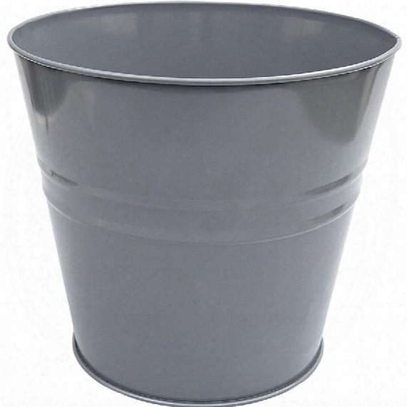 Offis Metal 15ltr Black Round Waste Bin