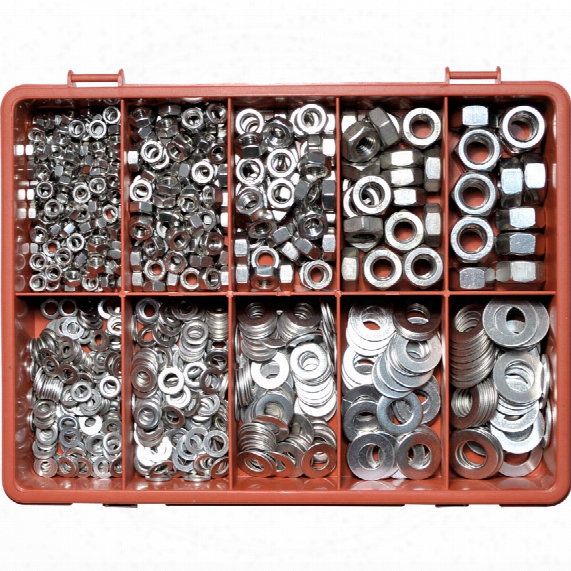 Qualfast Metric Nut & Washer Kit A4 Avg-890pc