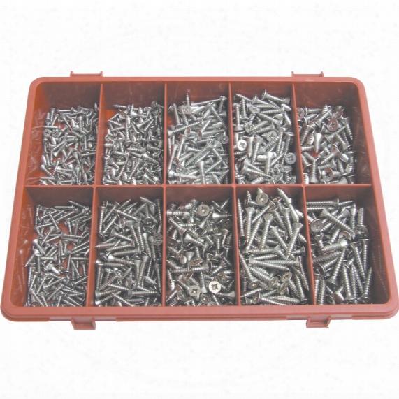 Qualfast Pozi C/sunk Self Tapping Screw Kit A2 Avg-900pc