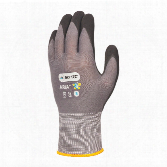 Skytec Sky49 Aria Palm-side Coated Grey/black Gloves - Size 10