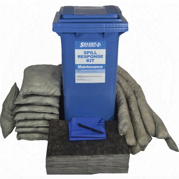 Solent Spill Control S+ Spill Kit; Maintenance 120ltr Wheeled Bin