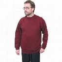 Ranks Rk20 Deluxe Heavy Burgundy Sweatshirt - Size L
