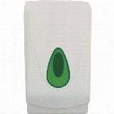 Solent Cleaning Dpft06Cr White Plastic Flat Pack Tissue Dispenser