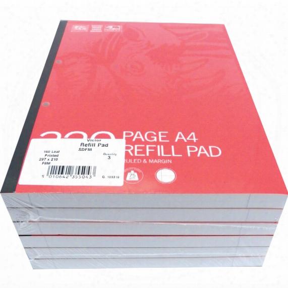 Workshop Refill Pad A4 320-page Ru Led/margin (pk-6)