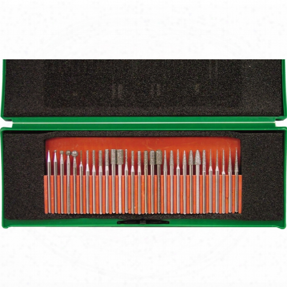 York Diamond Coated Burr Set 3mm Shank (30pc)