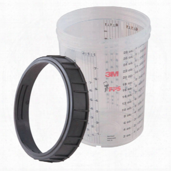 3m 16023 Pps Lge Mixing Cups & Collars (case-4 Each)