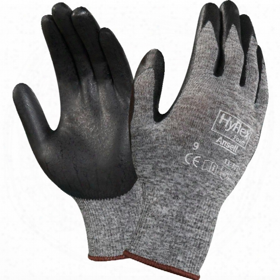 Ansell 11-801 Hyflex Palm-side Coated Black/grey Gloves - Size 7