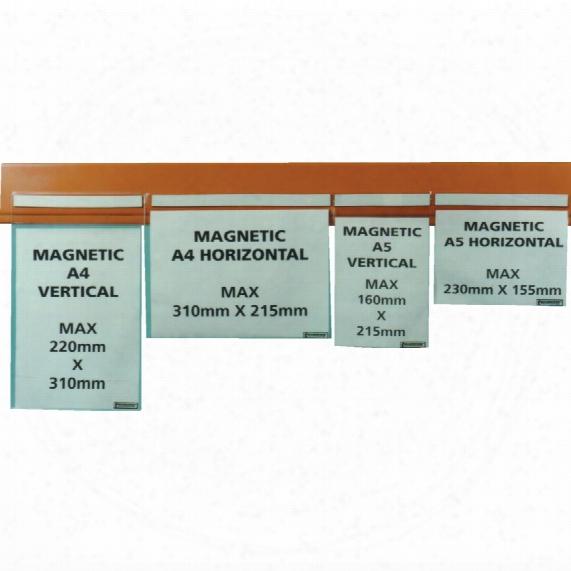 Beaverswood Magnetic Pocket Clear 310x220mm (pk-10)