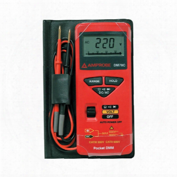 Beha Amprobe Dm78c Credit Card Sized Multimeter