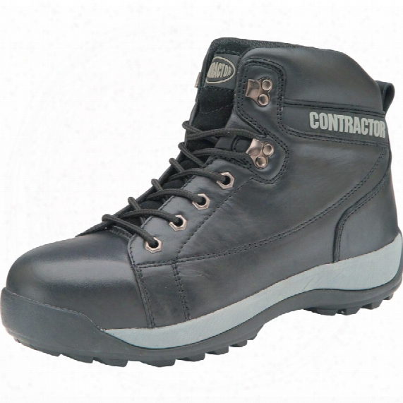 Contractor 809 Men's Black Safety Boots - Size 6